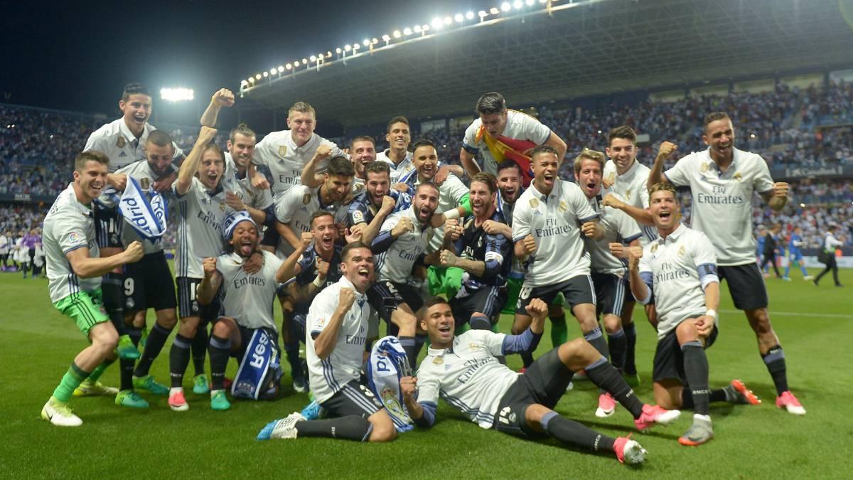 Málaga-Real Madrid: el Madrid campeón de Liga 2016/17