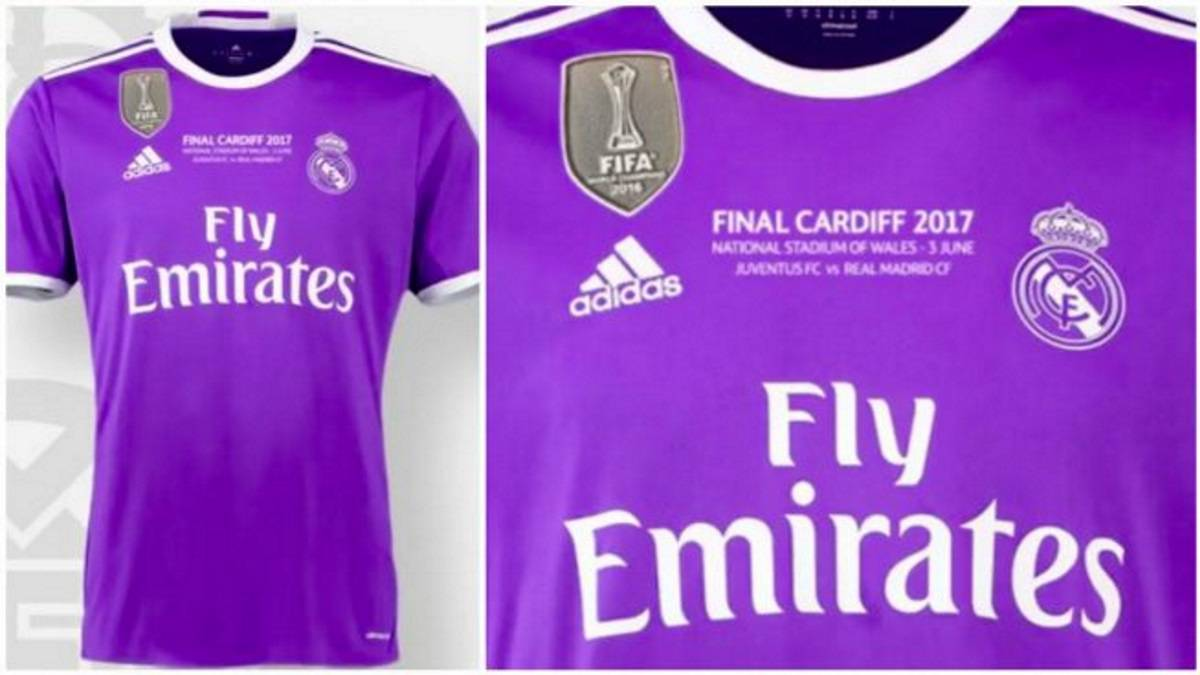 eee33cd0eb498 Camiseta del Real Madrid para la final de Cardiff.