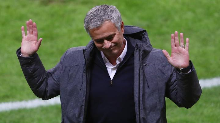 Jose Mourinho, Manager of Manchester United reacts during the UEFA Europa League Final between Ajax and Manchester United at Friends Arena on May 24, 2017 in Stockholm, Sweden.
