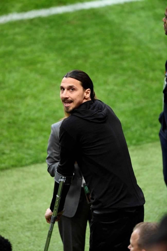 El delantero sueco del Manchester United, Zlatan Ibrahimovic.
