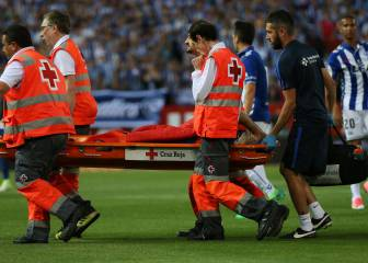 Barça's Mascherano off injured: concussion, stitches, knee