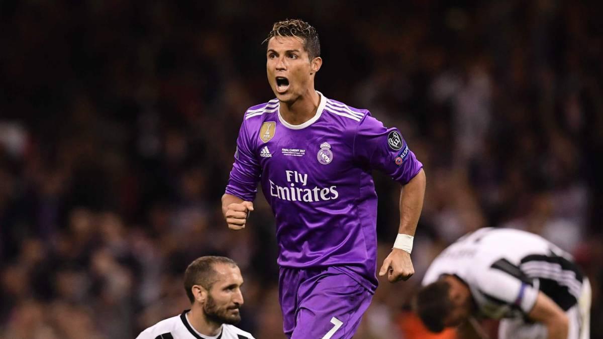 Cristiano celebra un gol.