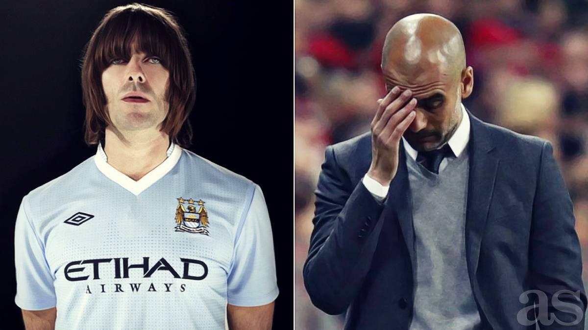 """Liam Gallagher: """"Si Guardiola no gana un título, debe irse"""""""