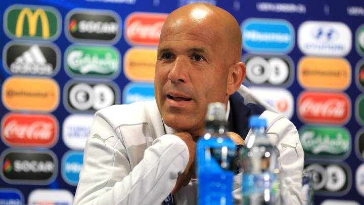 Italy Head Coach Luigi Di Biagio speaks during a Italy U21 Training Session and Press Conference at Stadium Krakow on June 17, 2017 in Krakow, Poland.