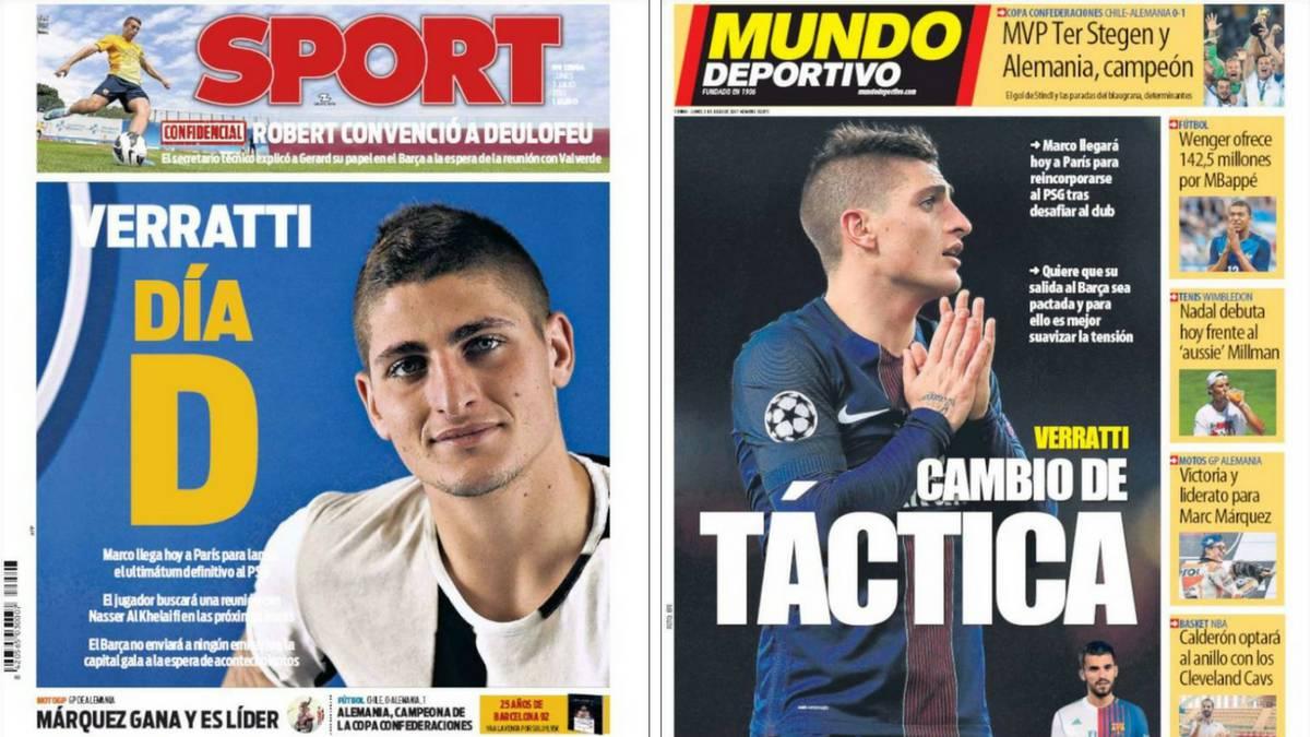 FC Barcelona: Bartomeu aclaró las dudas sobre el fichaje de Verrati