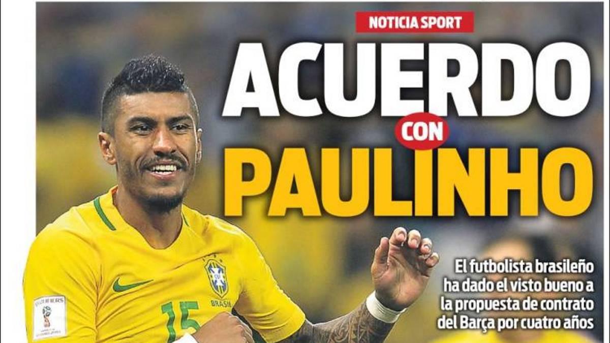 El Guangzhou rechazó una oferta del Barcelona por Paulinho