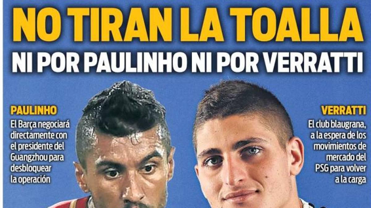 EL Barça ofrecería a Rakitic y dinero por Verratti