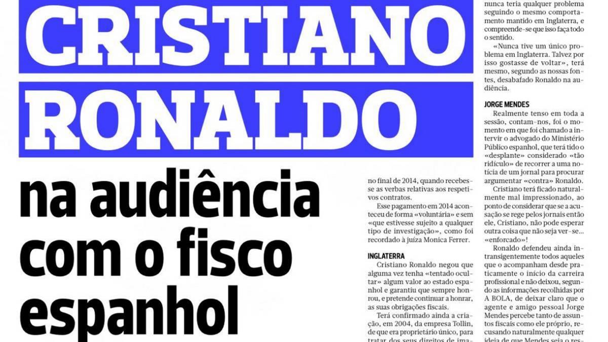 Lista la sanción para Cristiano Ronaldo