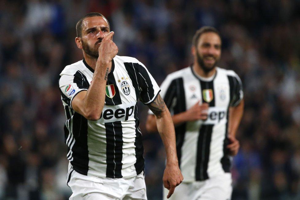 Bonucci con la Juventus.