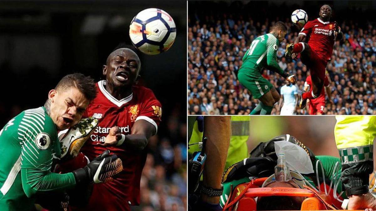 Mané shown straight red after horror challenge on Ederson AS