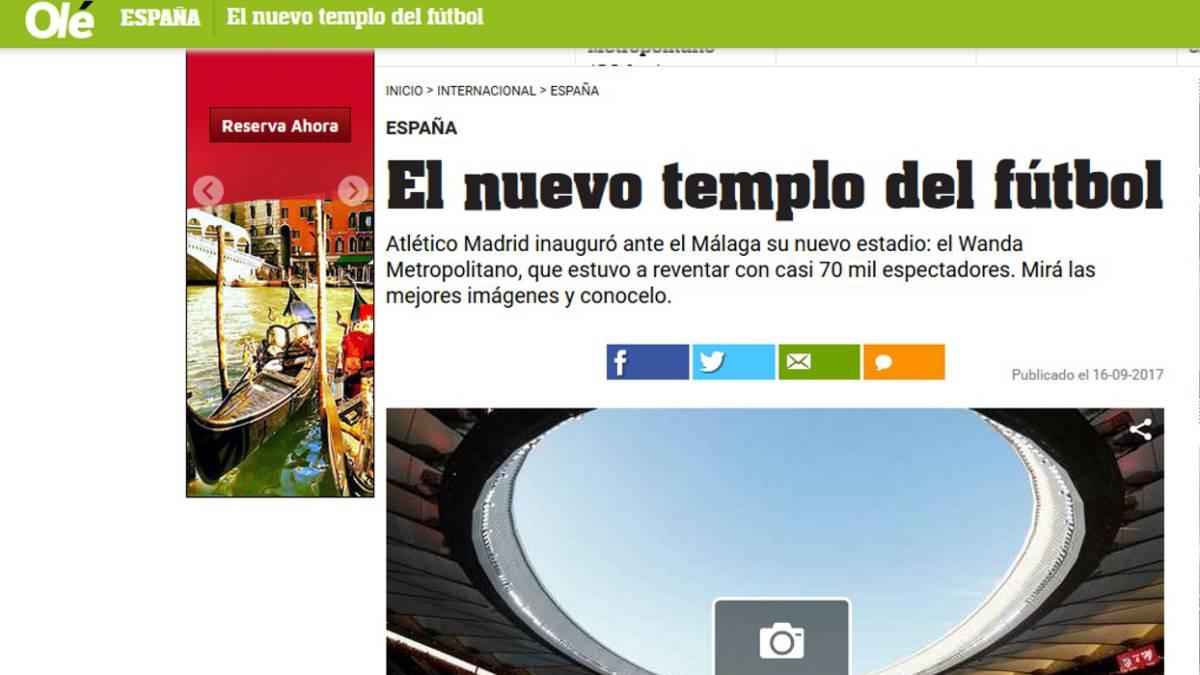 Todo listo para debut del Atlético de en su nuevo estadio
