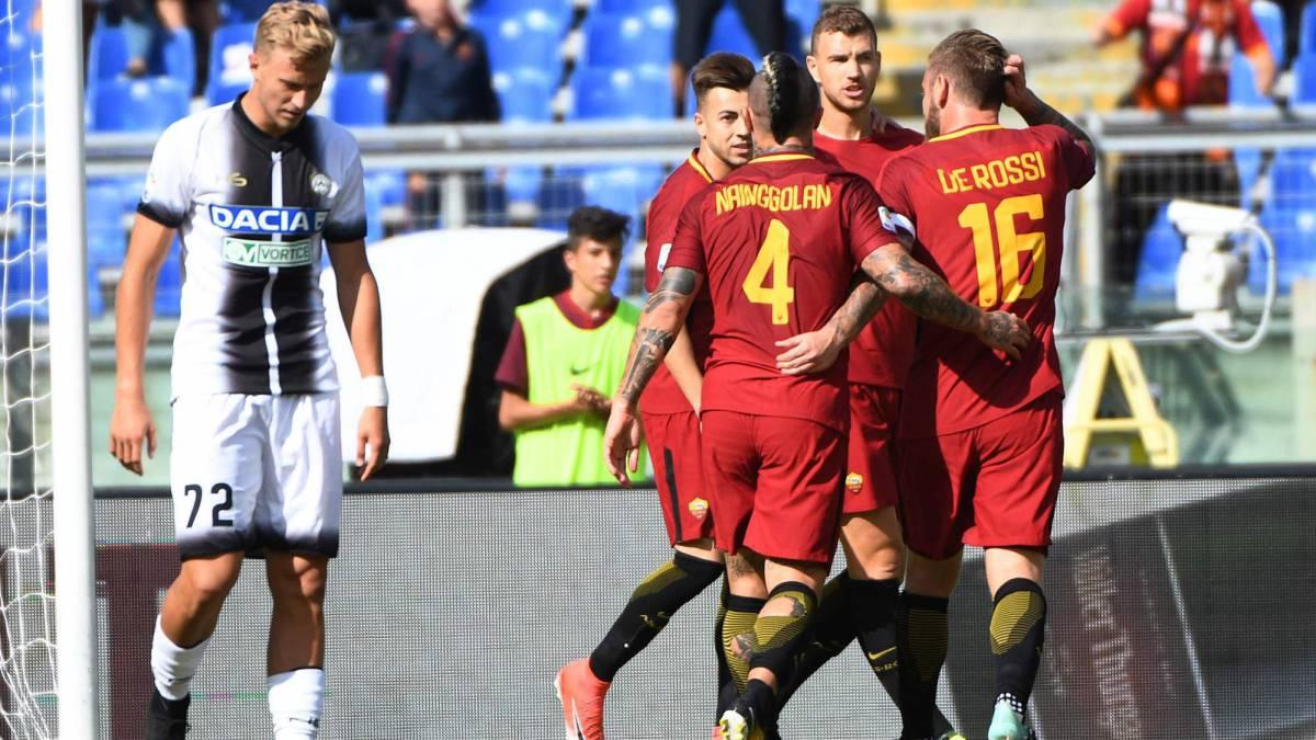 La Roma gana al Udinese con doblete de El Shaarawy
