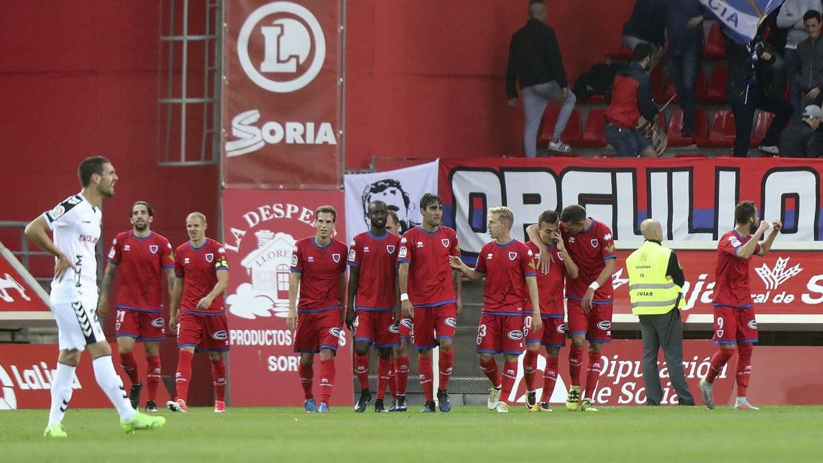 Manita del Numancia al Alba que lo deja líder en solitario con un punto de ventaja sobre Real Valladolid y Lugo