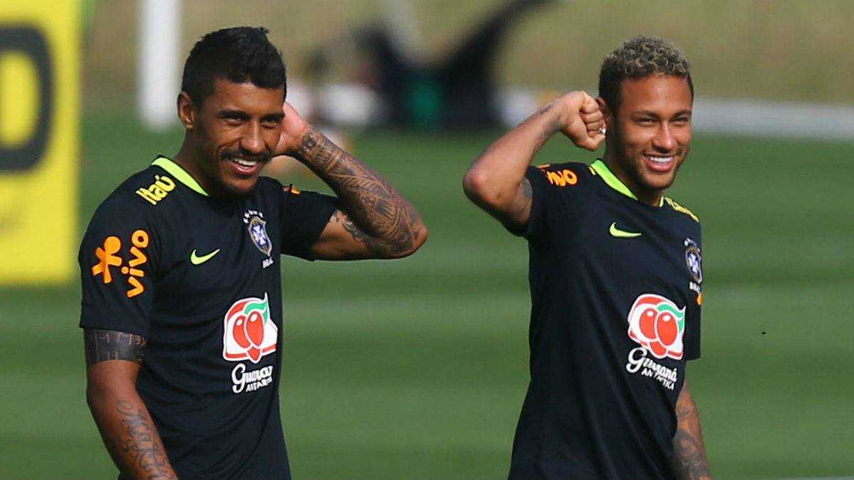 Neymar PSG star roughed up by Paulinho AS