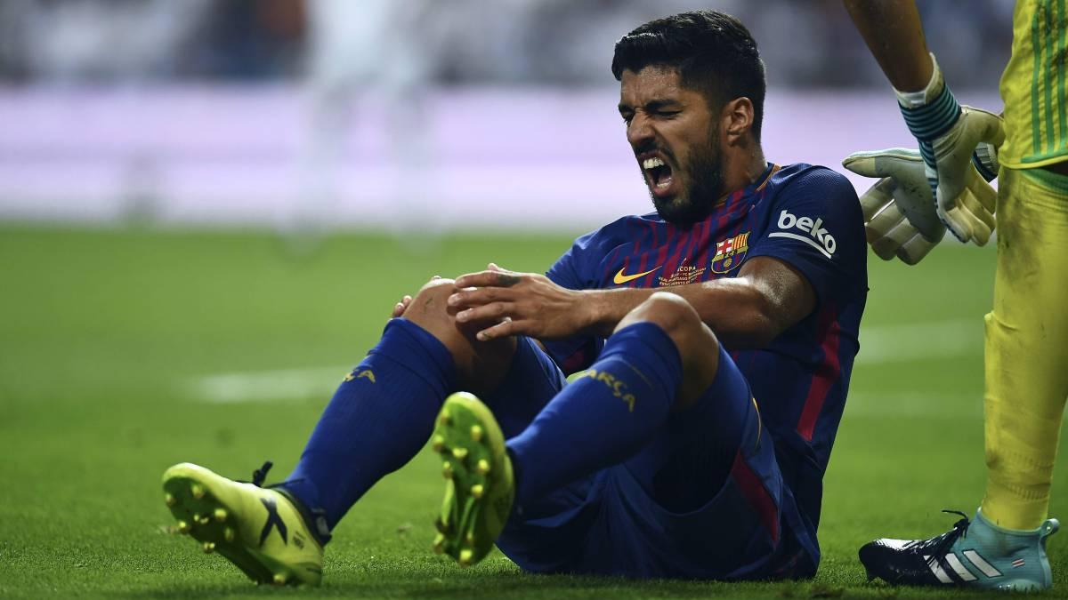 Luis Suárez tiene un quiste sinovial en la rodilla derecha