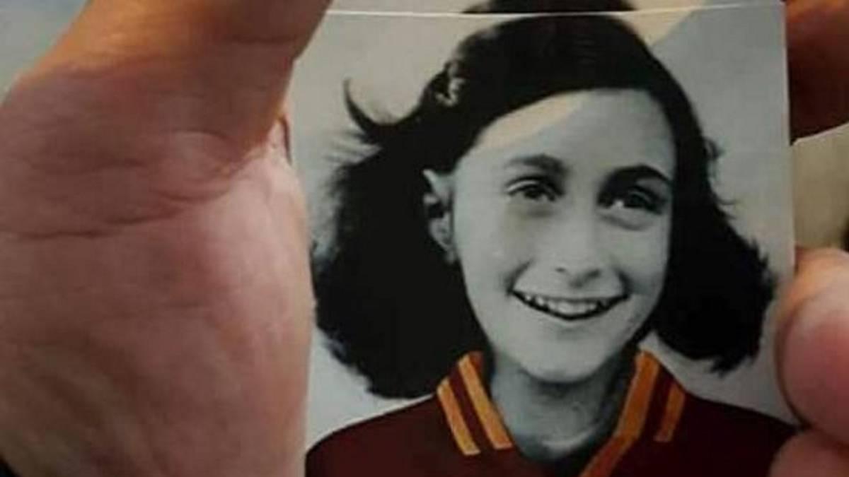 Figura de Ana Frank para evitar el antisemitismo en la Serie A