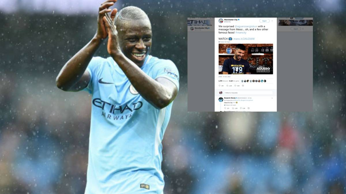 "Messi to City "" Benjamin Mendy surprises club s Twitter followers"