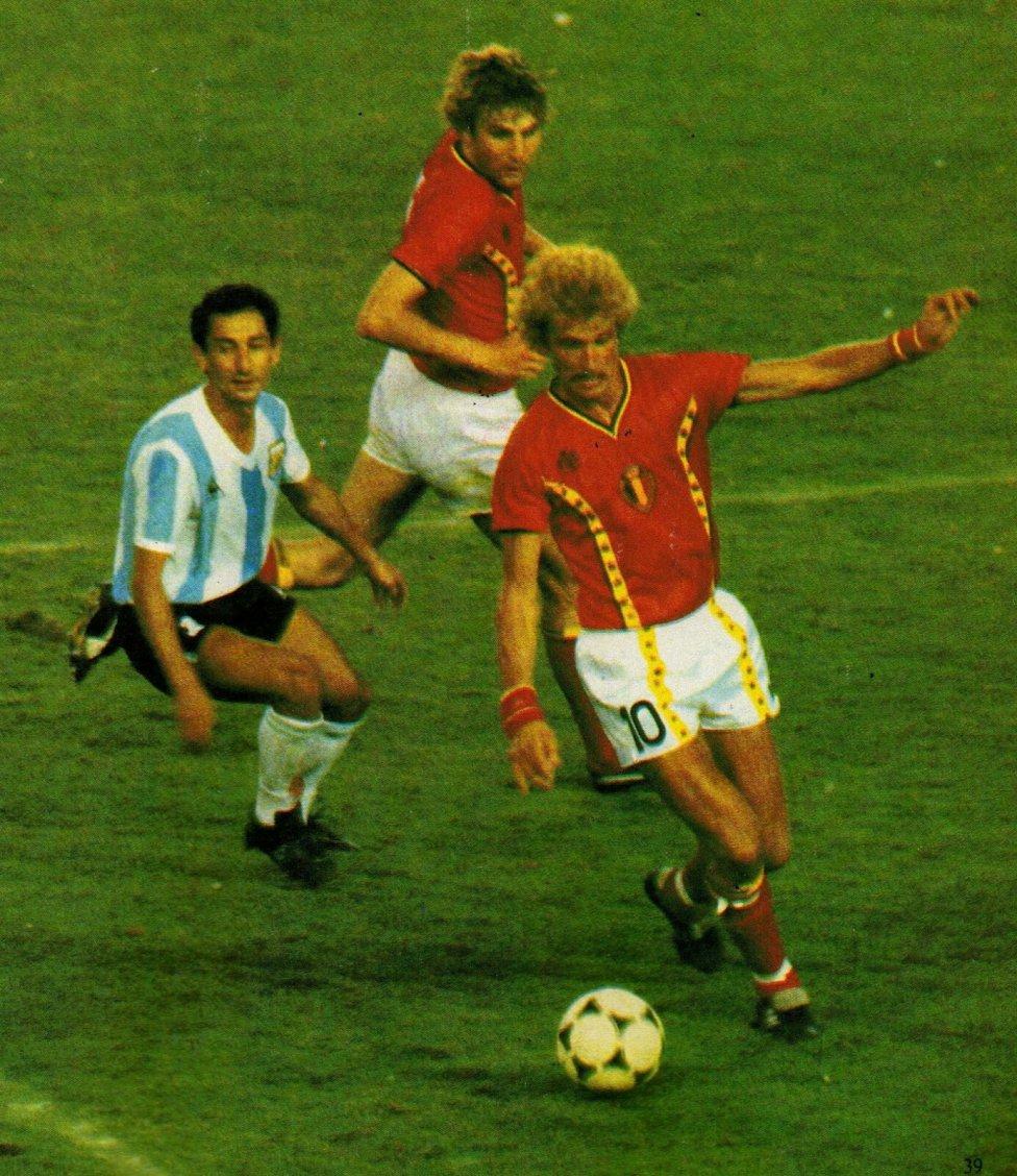 Camiseta de Bélgica para el Mundial de España 1982.