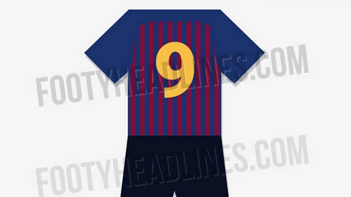 Barcelona Así sería la nueva camiseta de Barcelona para 2018-19 - AS ... e3fb7a53c1a