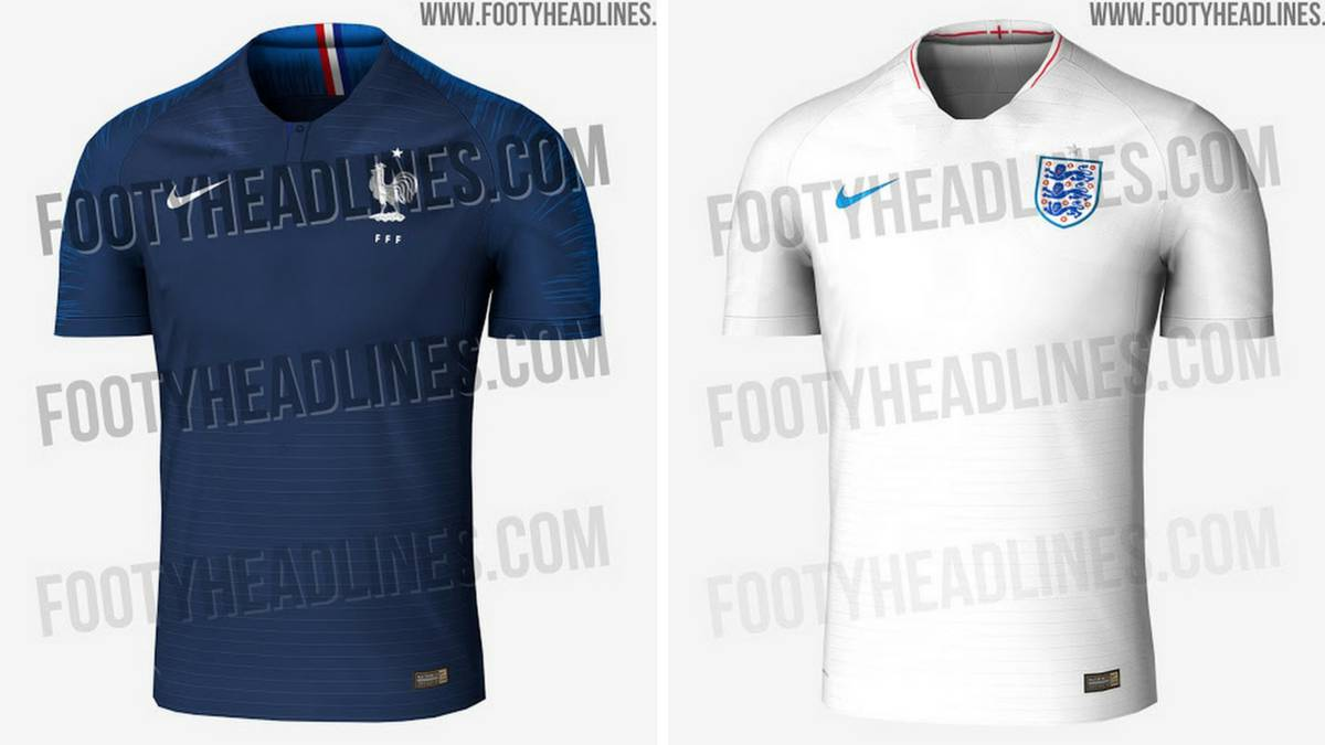 Filtran las camisetas de Francia e Inglaterra para el Mundial - AS México 052afe603ab3f