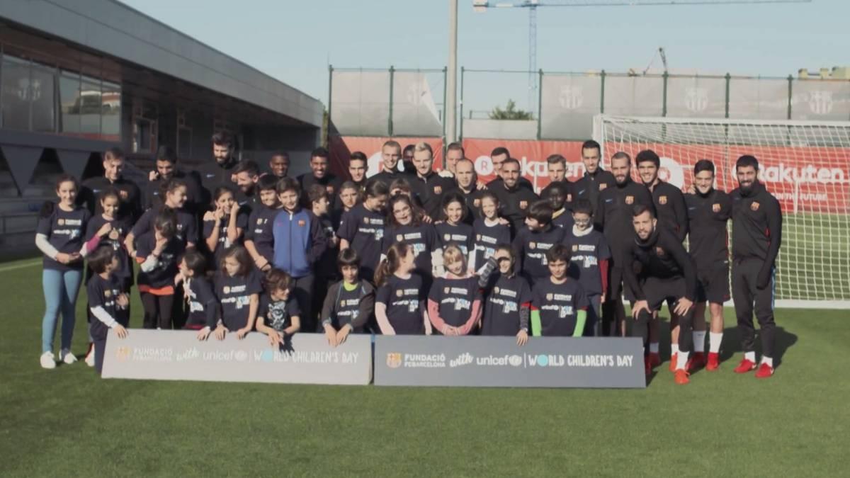 'Los niños toman el club' y gobiernan por un día el Barça