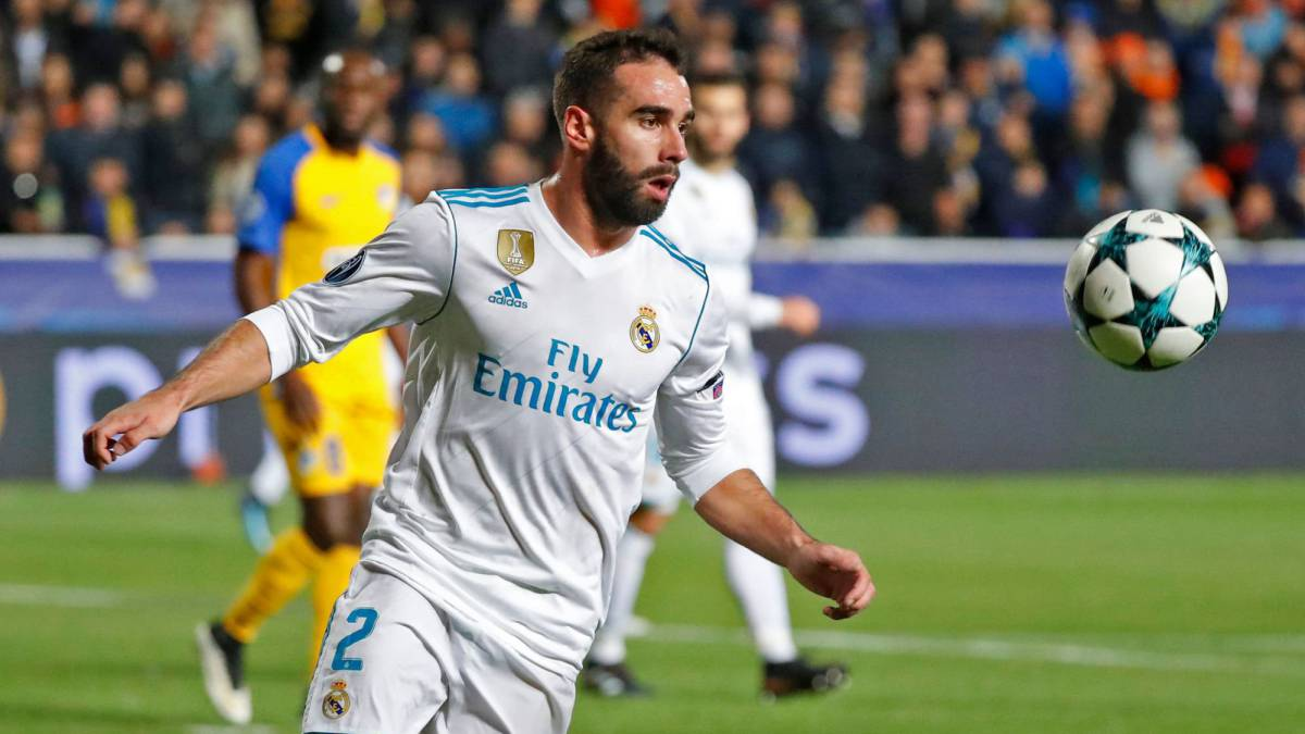 Real Madrid's Dani Carvajal charged by UEFA for deliberate booking