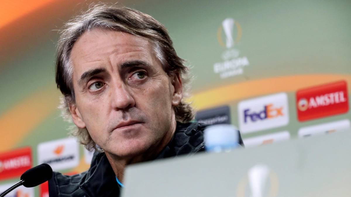 El entrenador de Zenit de San Petesburgo el italiano Roberto Mancini