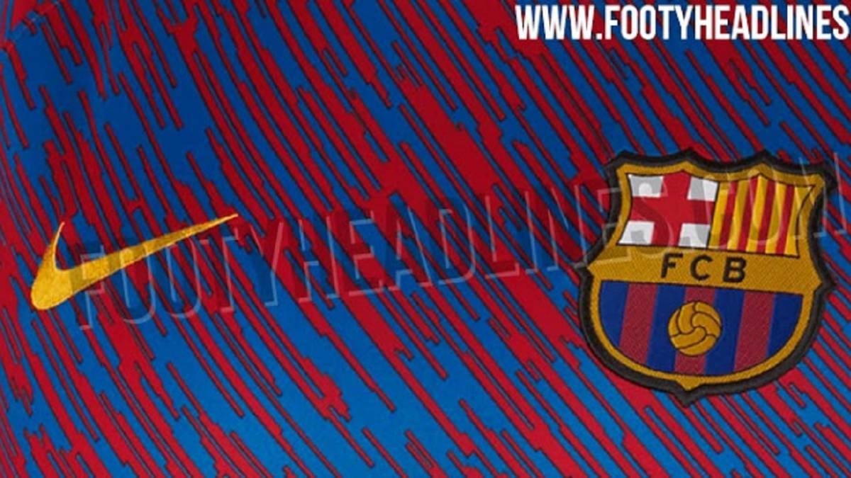 La camiseta de calentamiento del Barcelona para la temporada 2018-2019. 3ba42d04b88b9