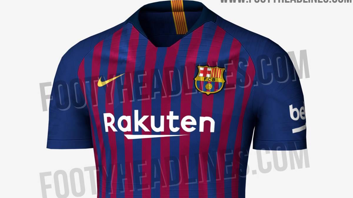 21a6ebd12 Posible diseño de la primera camiseta del FC Barcelona para la temporada  2018-2019.