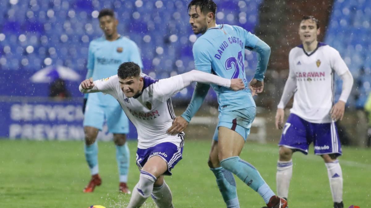Zaragoza 1-1 Barcelona B: resumen, goles y resultado - AS.com
