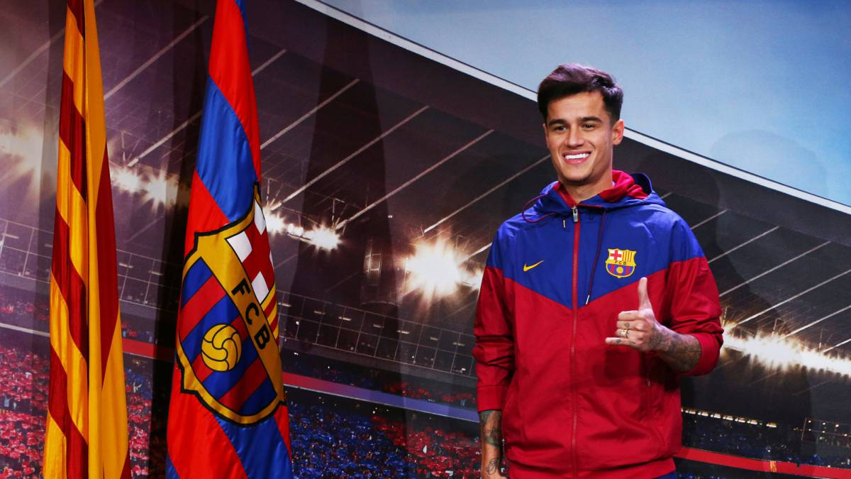 Barcelona's Coutinho ruled out for three weeks