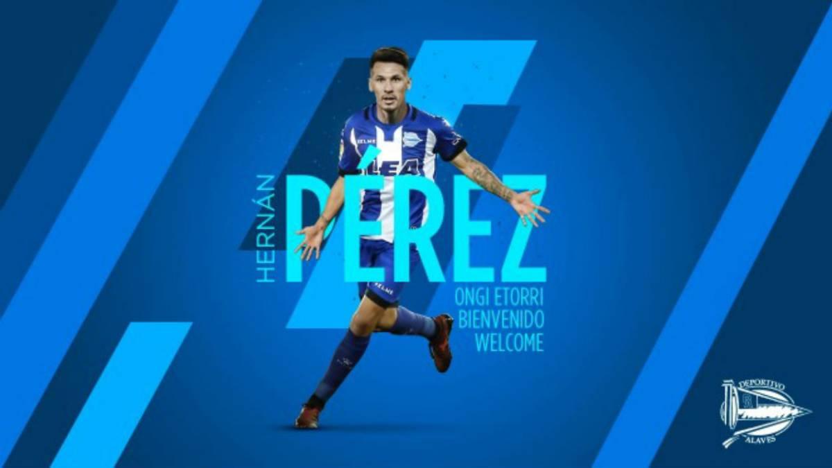 Hernán Pérez, cedido al Alavés hasta final de temporada — Oficial