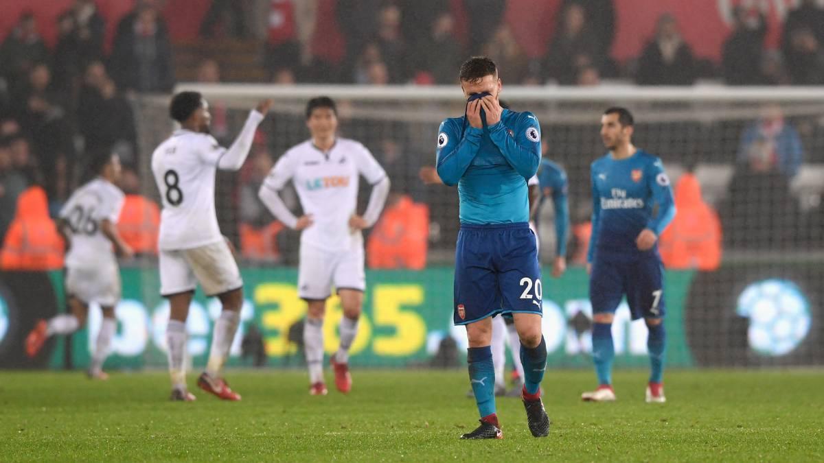Arsenal cayó sin apelación ante Swansea City por la Premier League inglesa