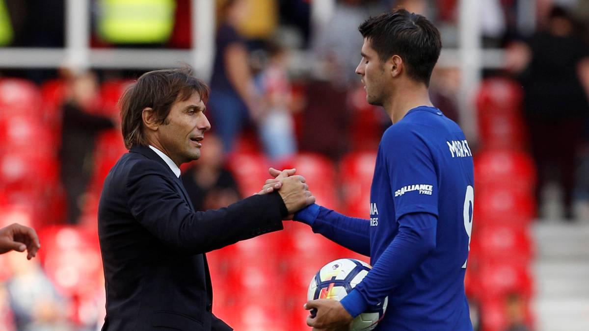 Conte reconoce que no sabe cuánto tiempo de baja estará Morata