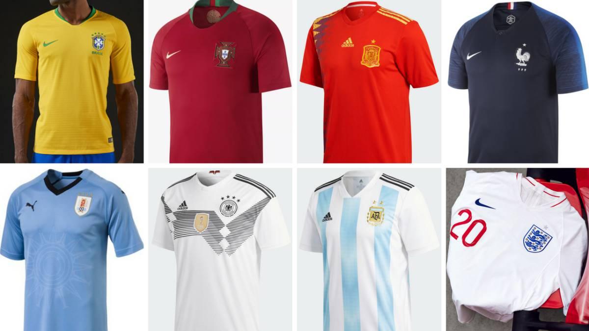 daa155762ca7d Encuesta  este es el ranking de las camisetas del Mundial más bonitas para  los lectores de As - AS.com