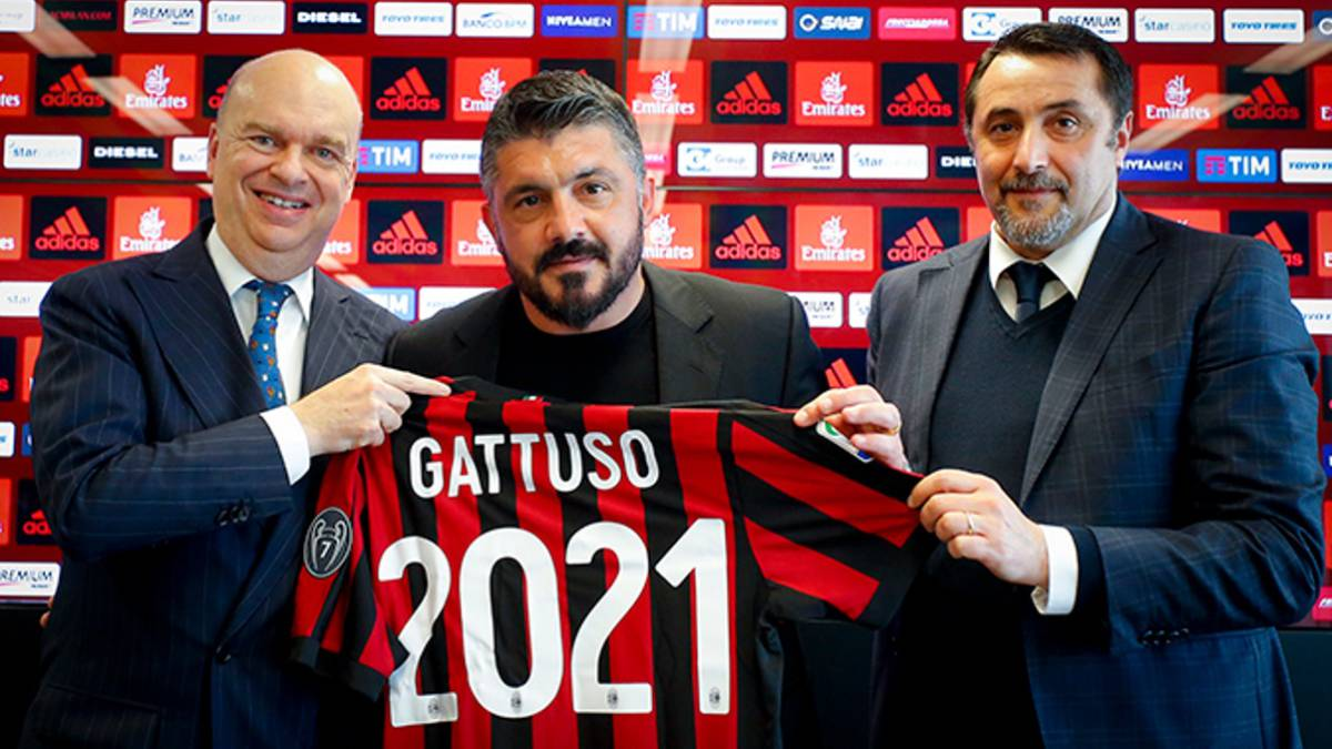 AC Milan Manager Gennaro Gattuso Extends His Contract Until June 2021