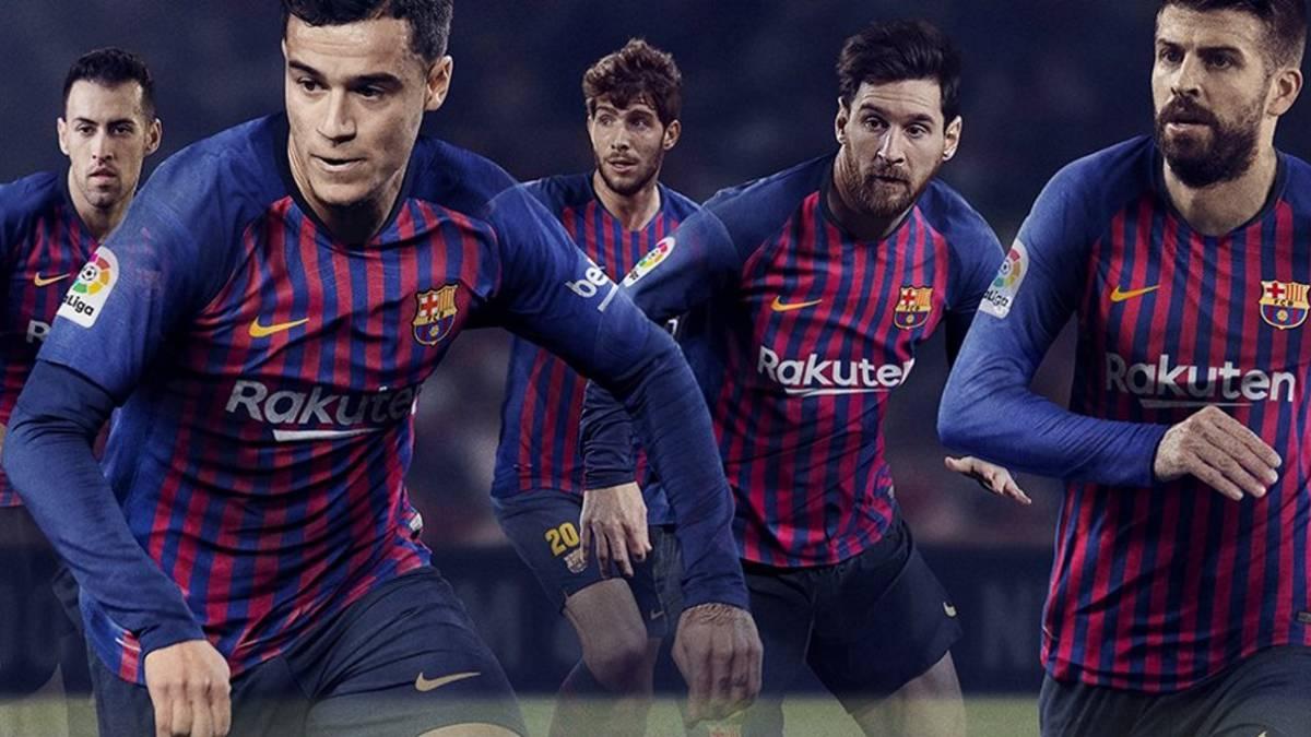 El Barcelona presenta su nueva camiseta para la 2018 19 - AS.com 1e516bfb973