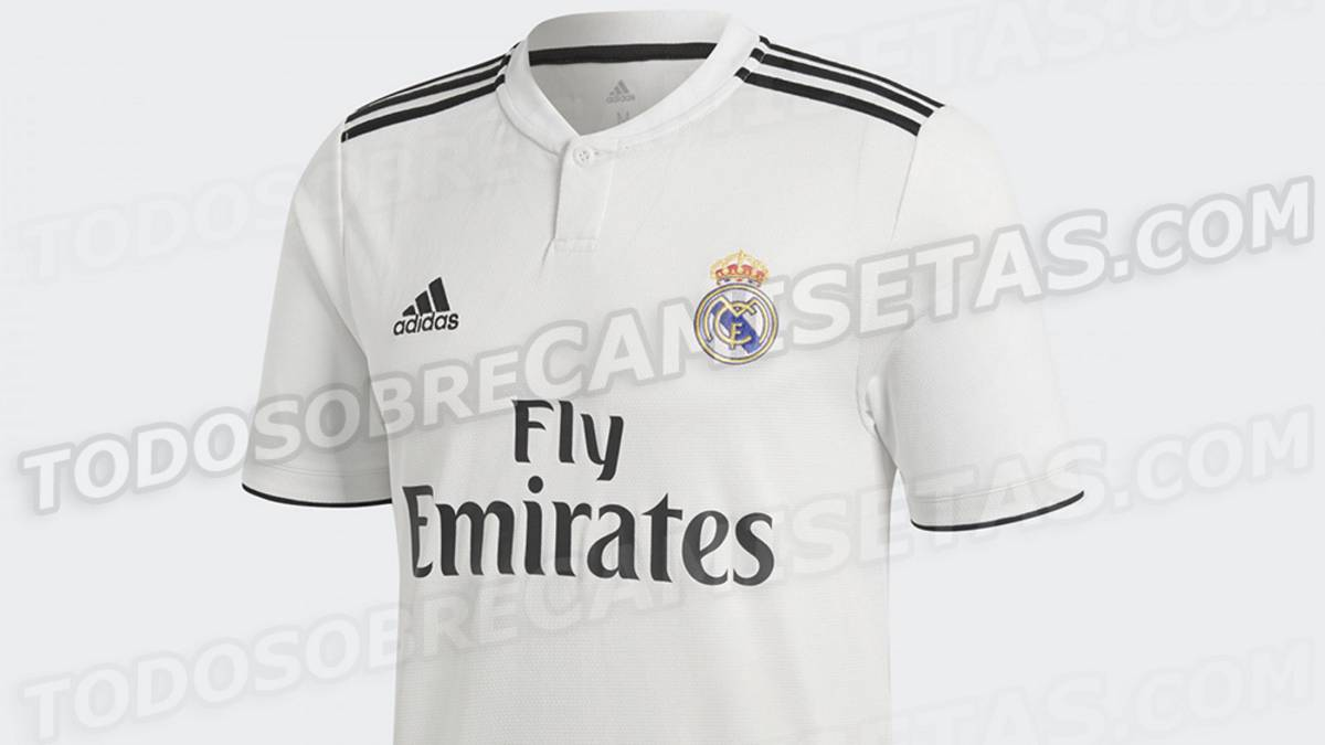 b94bc65577090 Así será la primera y segunda equipación del Madrid 2018 19. Camiseta del Real  Madrid