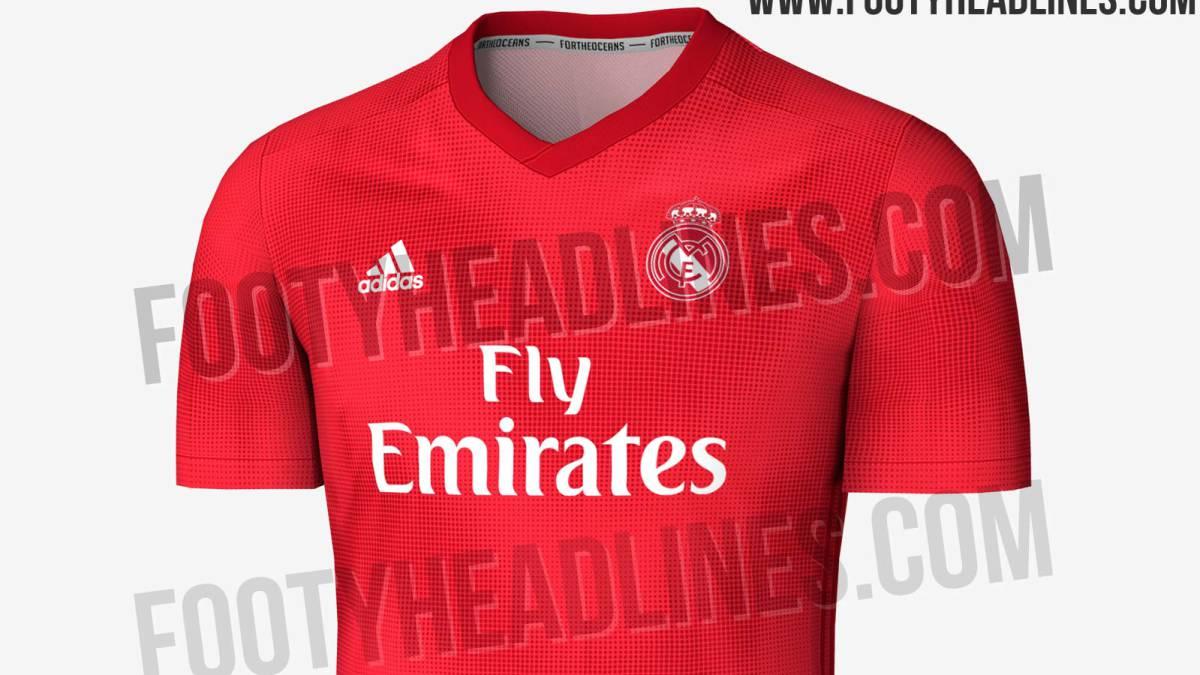 bf0286729b946 Se filtra la posible tercera camiseta del Madrid  será roja - AS.com