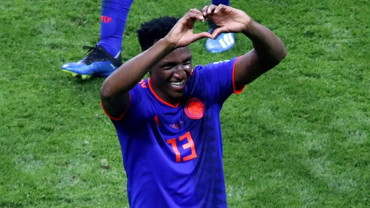 Yerry Mina es el máximo anotador de Colombia en el Mundial