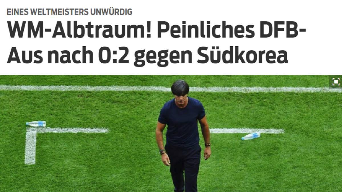 Alemania sufrió la maldición de los campeones defensores