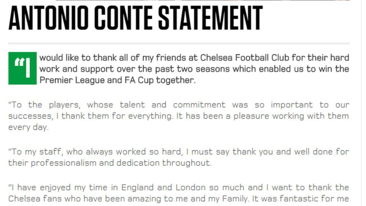 Maurizio Sarri es el nuevo técnico del Chelsea — Oficial