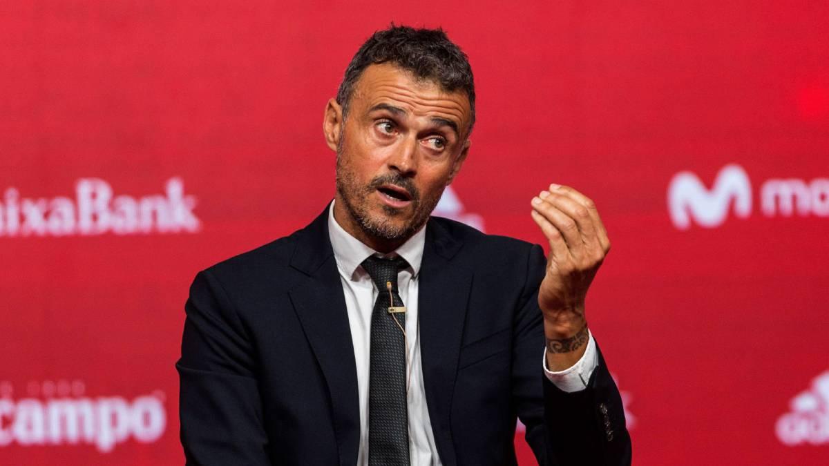 Luis Enrique fue presentado como técnico de España