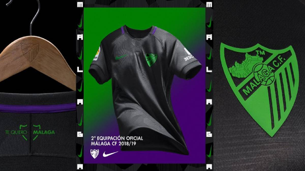 La segunda equipación del Málaga será negra con ribetes verdes y ... 4e4de5685a51e