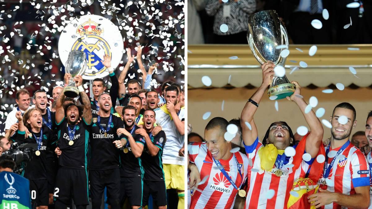 aaaff88a66a63 El Real Madrid campeón de la Supercopa de Europa en 2017 y el Atlético en  2012