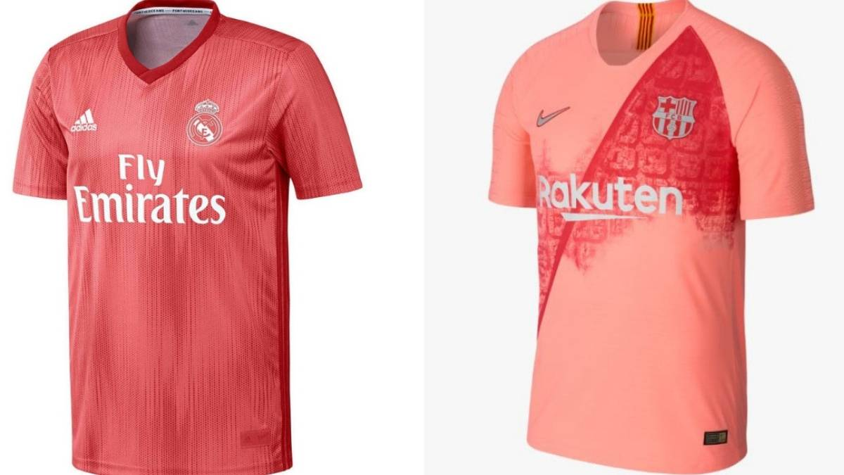 34359add24b Terceras camisetas de Real Madrid y Barcelona en la temporada 2018-2019.