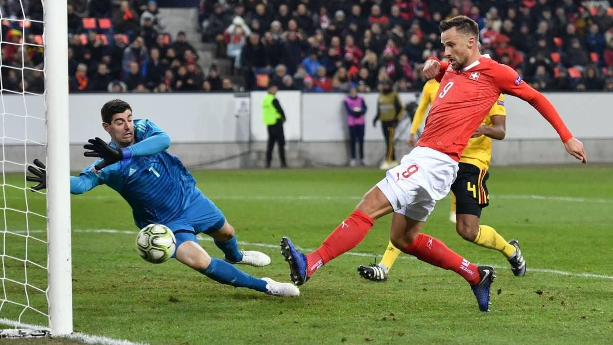 Fútbol: Suiza sorprendió, avanzó y eliminó a Bélgica