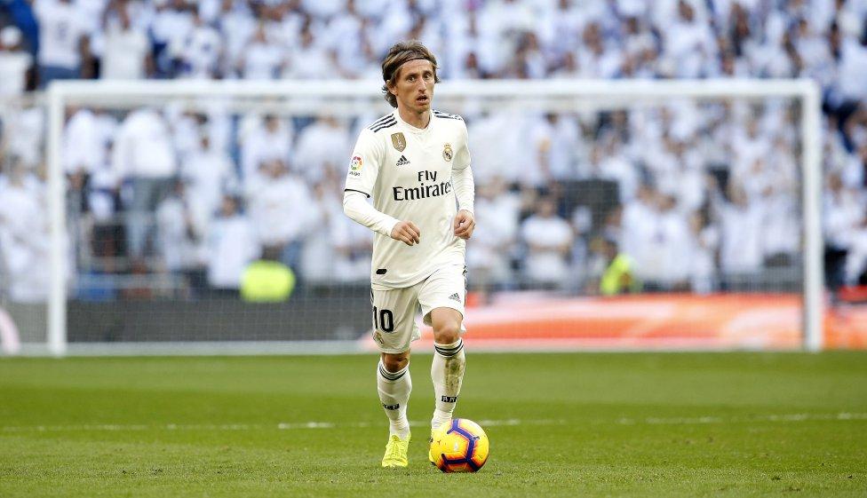 Luka Modric jugando con el Real Madrid