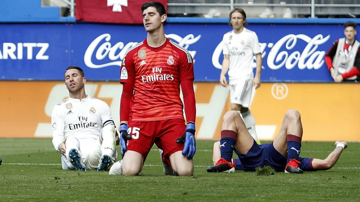 El Real Madrid ha recibido 19 goles en esta Liga. No encajaba tantos desde Schuster en la 2008-09. En Ipurua un desastre atrás con Ramos Varane y Marcelo