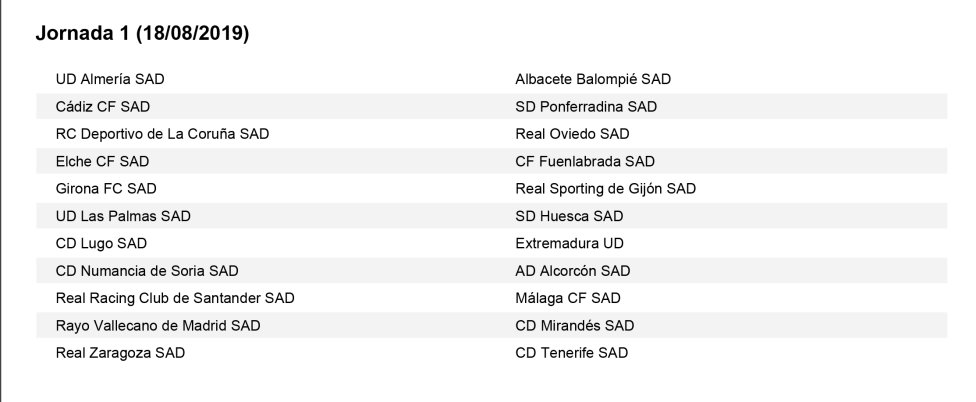 As Calendario Liga 123.Calendario Completo De La Temporada 19 20 De Laliga 123 As Com